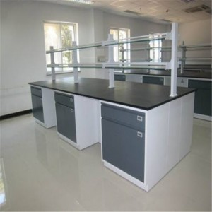 2019 wholesale price Anti-acid Lab Furniture Mobile Laboratory Table Bench For Middle School