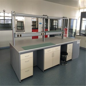 Good Quality Lab Central Island Bench For Chemistry All Steel Lab Bench For Lab Bench